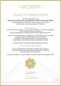 Qualitätsnachweis Dr. Juchheim, auch beim Thema Wimpern verlängern
